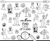 find one of a kind Halloween character color book - 222143300