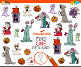 find one of a kind game with Halloween characters - 222143346