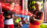 Girls and boys playing laser tag - 222147168