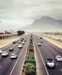 Quadro Highway traffic in Cape Town