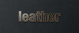 leather font - 222164329