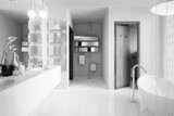 Modernes Badezimmer (B&W)