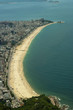 Quadro Aerial view of famous brazilian beachs (Leblon, Ipanema and Arpoador view from above)