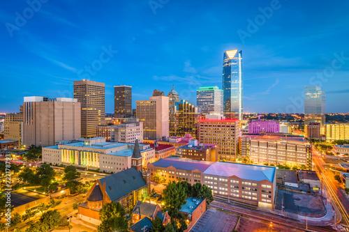 mata magnetyczna Oklahoma City, Oklahoma, USA Skyline