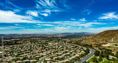 Poster Aerial view of Chapman Heights along Oak Glen Road in Yucaipa, California