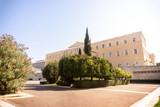 building of the Greek Parliament in Athens - 222183552