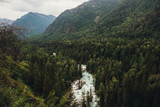 Mountain and cold river of Altai