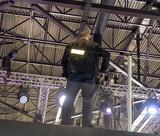Professiona tv camera in live show pavilion. - 222189997