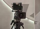 Professional tv camera in live show pavilion. - 222190311