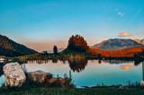 Berggasthof Bichlersee, Bergsee, Natur, Berge, Himmel, Landschaft, Abendstimmung, Alpen - 222200944