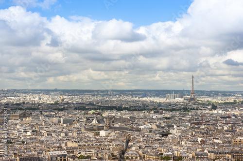 Fridge magnet Panorama di Parigi, vista da Montmartre