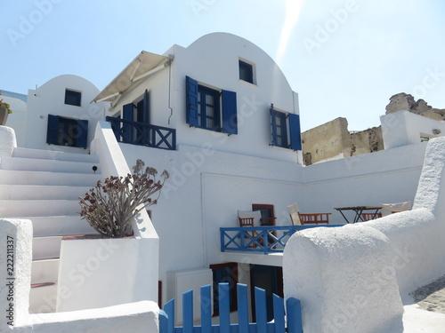 Vue de la ville de Oia à Santorin