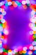 Leinwandbild Motiv Christmas bokeh multicolor lights frame