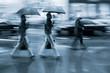 rainy day motion blur