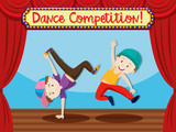 Street dance competition on stage