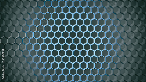 abstract background hexagon - 222250733