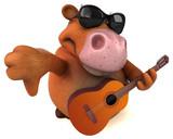 Fun cow - 3D Illustration - 222251527