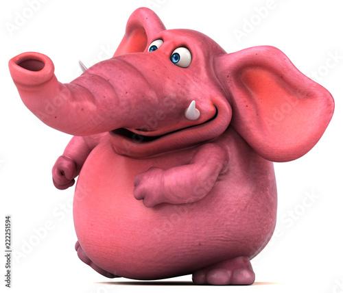 Fototapeta Pink elephant - 3D Illustration