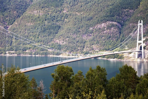Ponte ad unica campata hardanger brige