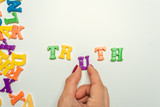 truth word concept in plastic colorful letters - 222252918