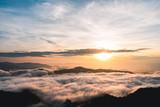 Sunrise And fog On the Moutain winter season    - 222260559