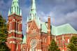 Finland, Helsinki, the Church of St. John. Sights of the capital of Finland. Beautiful city landscape