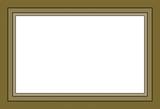 Marco rectangular de color marrón grisaceo. - 222262578