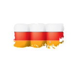 South Ossetia flag, vector illustration on a white background - 222263507
