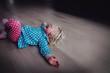 Leinwanddruck Bild - crying child, depression and sadness, abuse, stress