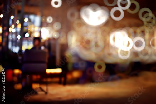 background restaurant / restaurant objects on a blurred background, beautiful bokeh, vintage background color cafe - 222264794