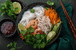 chicken and rice noodle bow