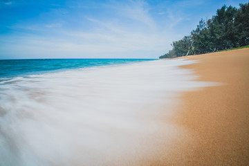 Slow Wave in Phuket of Thailand