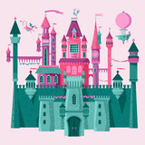Fairytale medieval castle and fortress. The princess castle. Wonderland. - 222271323
