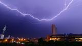 Lightning over the city, Pattaya Thailand