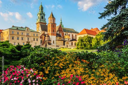 Leinwandbild Motiv Krakow - Castle of Wawel is one of the main travel attractions - One of The Main symbol of Krakow