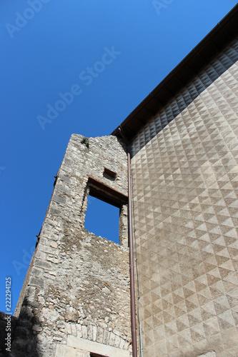 Foto Murales The window on the blue sky
