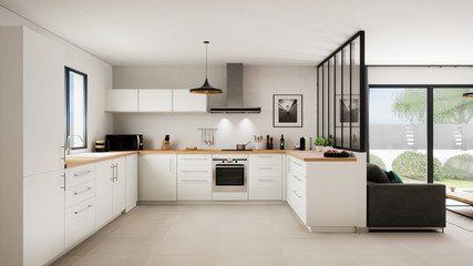 Vue 3d cuisine salon 16_02
