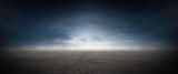 Asphalt Beton Strasse mit Wolken Himmel Horizont Panorama - 222296599