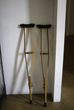 Old wooden crutches - 222299101
