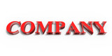 3D company,red company 3d,white background,logo banner.