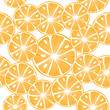 Sliced orange over white. Colorful Seamless Vector Background. - 222314393