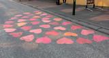 cœurs sur l e sol