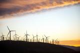 wind turbines at sunset - 222322591