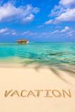 Word Vacation on beach - 222340971