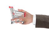 Hand with shopping cart - 222340999