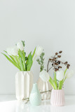 Wonderful Tulip Flower Decoration In Vases - 222347338