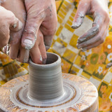 The hands of pottery masters - 222348953