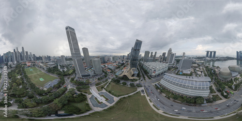 aerial view of Singapore , asia  - 222359349