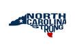 North Carolina Strong Map Logo Vector Illustration