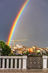 rainbow on the Adige river in Pescantina